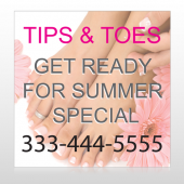 Tips & Toes 488 Custom Sign