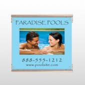 Paradise Pool 529 Track Sign