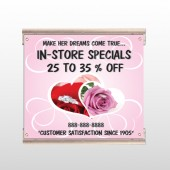 Pink Rose Hide Ring 400 Track Sign