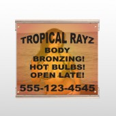 Tropical Rayz Tan 490 Track Sign