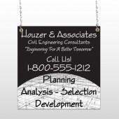 Black Planning 218 Window Sign