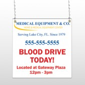 Blood Drive 97 Window Sign