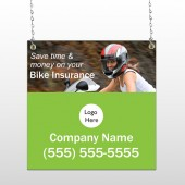Bike Insurance 110 Window Sign