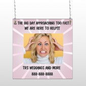 Crazy Wedding 411 Window Sign