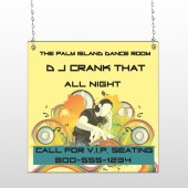 DJ Crank Night 369 Window Sign