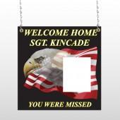 Eagle Flag 307 Window Sign