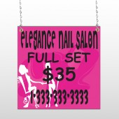 Elegant Nails 643 Window Sign