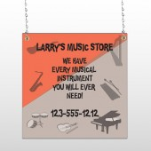 Larry Music Store 372 Window Sign