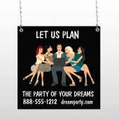 Party Planning 519 Window Sign