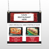 Restaurant Specials 370 Window Sign