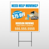 Blue Moving 294 Wire Frame Sign