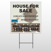 Brown House For Sale 860 Wire Frame Sign