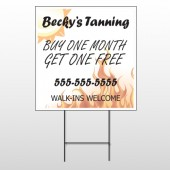 Flaming Suntan 298 Wire Frame Sign