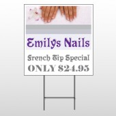 Flower Hands 295 Wire Frame Sign