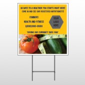 Healthy Tomato 404 Wire Frame Sign