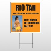 Rio Tan Beach 489 Wire Frame Sign