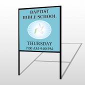 Bibledove 162 H-Frame Sign