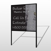 Black And Book 217 H-Frame Sign