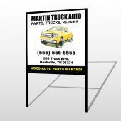 Black & Yellow Truck 117 H-Frame Sign