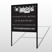 Blog Line 430 H Frame Sign