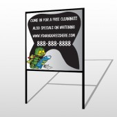Brushing Germ 502 H Frame Sign