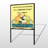 DJ Crank Night 369 H-Frame Sign