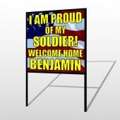 Flag 57 H Frame Sign