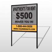 Gray Buildings 866 H-Frame Sign