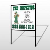Inspector 361 H-Frame Sign