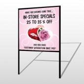 Pink Rose Hide Ring 400 H Frame Sign