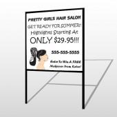 Pretty Girl Hair 290 H Frame Sign