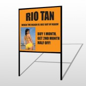 Rio Tan Beach 489 H Frame Sign