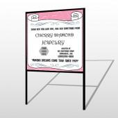 Scroll Pink Heart 397 H Frame Sign
