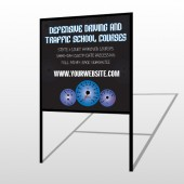 Traffic School 152 H-Frame Sign