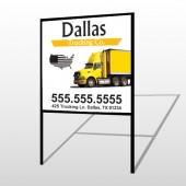 Yellow Truck 296 H Frame Sign