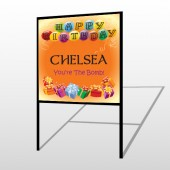 Birthday Balloons 185 H-Frame Sign
