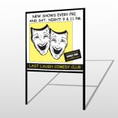 Comedy Mask 516 H Frame Sign