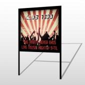 Night Club 523 H Frame Sign