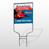 American Truck 295 Round Rod Sign