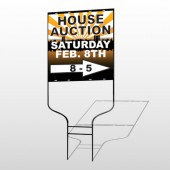 Auction Right Arrow 717 Round Rod Sign