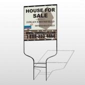 Brown House For Sale 860 Round Rod Sign