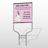 Cake Topper 412 Round Rod Sign
