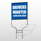Drivers Wanted 314 Round Rod Sign