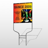 Dance Disco 518 Round Rod Sign