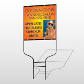 Golden Glow 491 Round Rod Sign