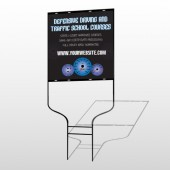 Traffic School 152 Round Rod Sign