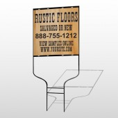 Wood Panel 248 Round Rod Sign