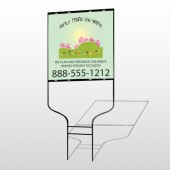 World Party Plan 520 Round Rod Sign
