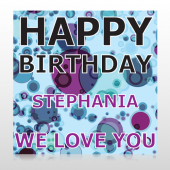 Birthday Dots 16 Custom Decal