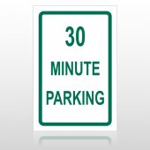 30 Min Parking 10011 Parking Lot Sign